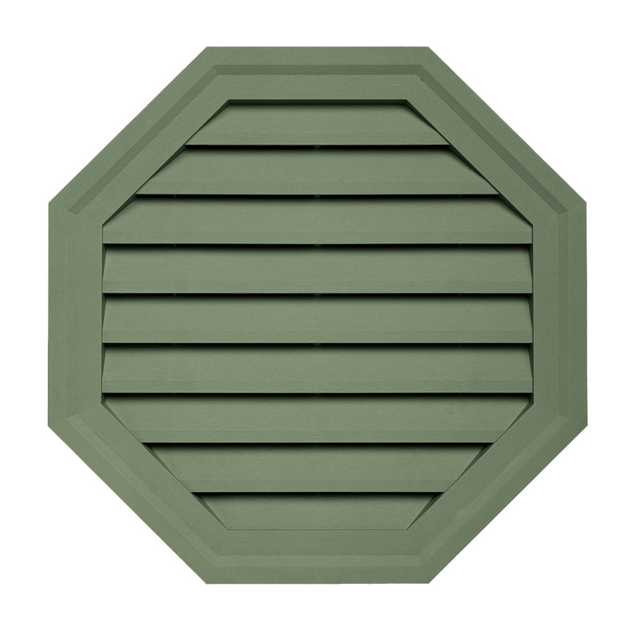 Georgia-Pacific 18-in x 18-in Palm Octagon Vinyl Gable Vent