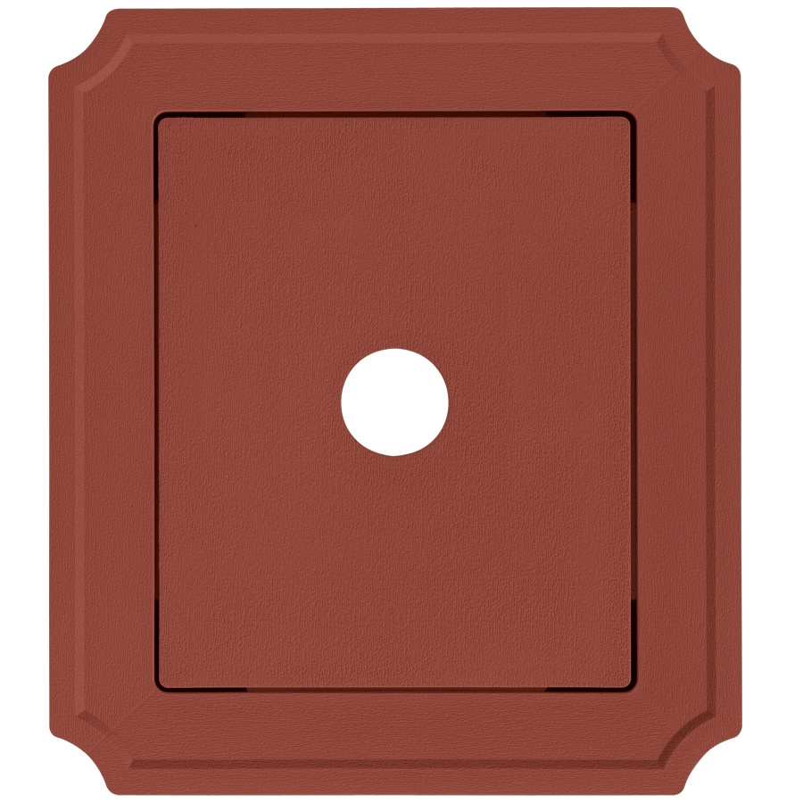 Georgia-Pacific 8.54-in x 7.52-in Hampton Red Vinyl Universal Mounting Block