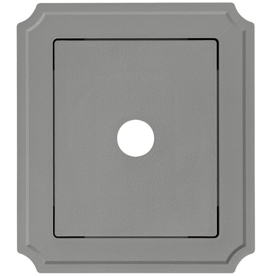Georgia-Pacific 8.54-in x 7.52-in Pewter Vinyl Universal Mounting Block