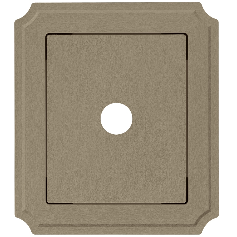 Georgia-Pacific 8.54-in x 7.52-in Briarwood Vinyl Universal Mounting Block