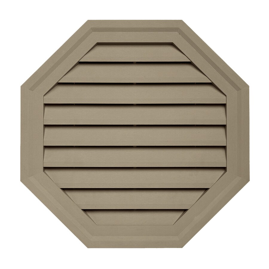 Georgia-Pacific 18-in x 18-in Briarwood Octagon Vinyl Gable Vent
