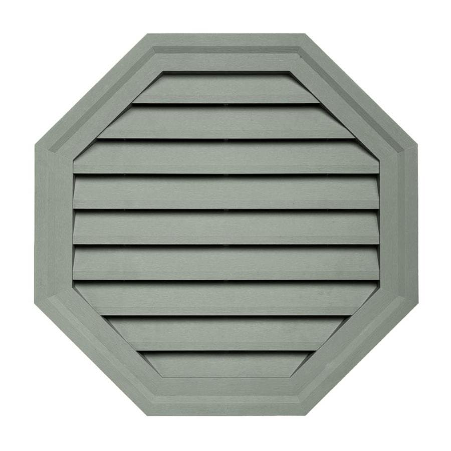 Georgia-Pacific 18-in x 18-in Sagebrook Octagon Vinyl Gable Vent