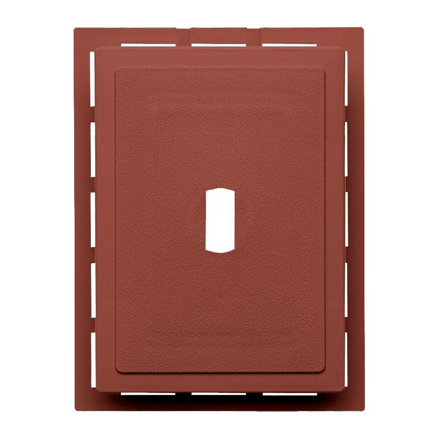 Georgia-Pacific 6-in x 0.875-in Hampton Red Vinyl Universal Mounting Block