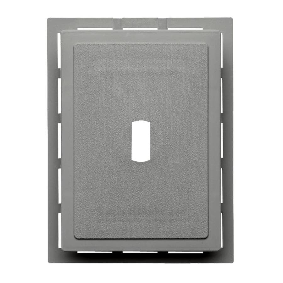 Georgia-Pacific 6-in x 0.875-in Pewter Vinyl Universal Mounting Block