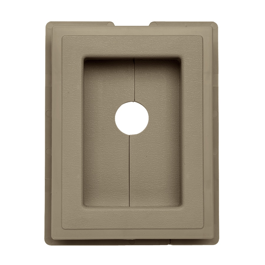 Georgia-Pacific 7.5-in x 1-in Briarwood Vinyl Universal Mounting Block