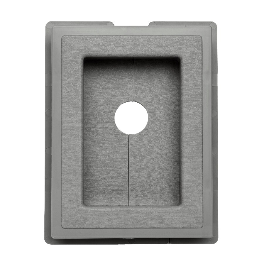 Georgia-Pacific 7.5-in x 1-in Pewter Vinyl Universal Mounting Block