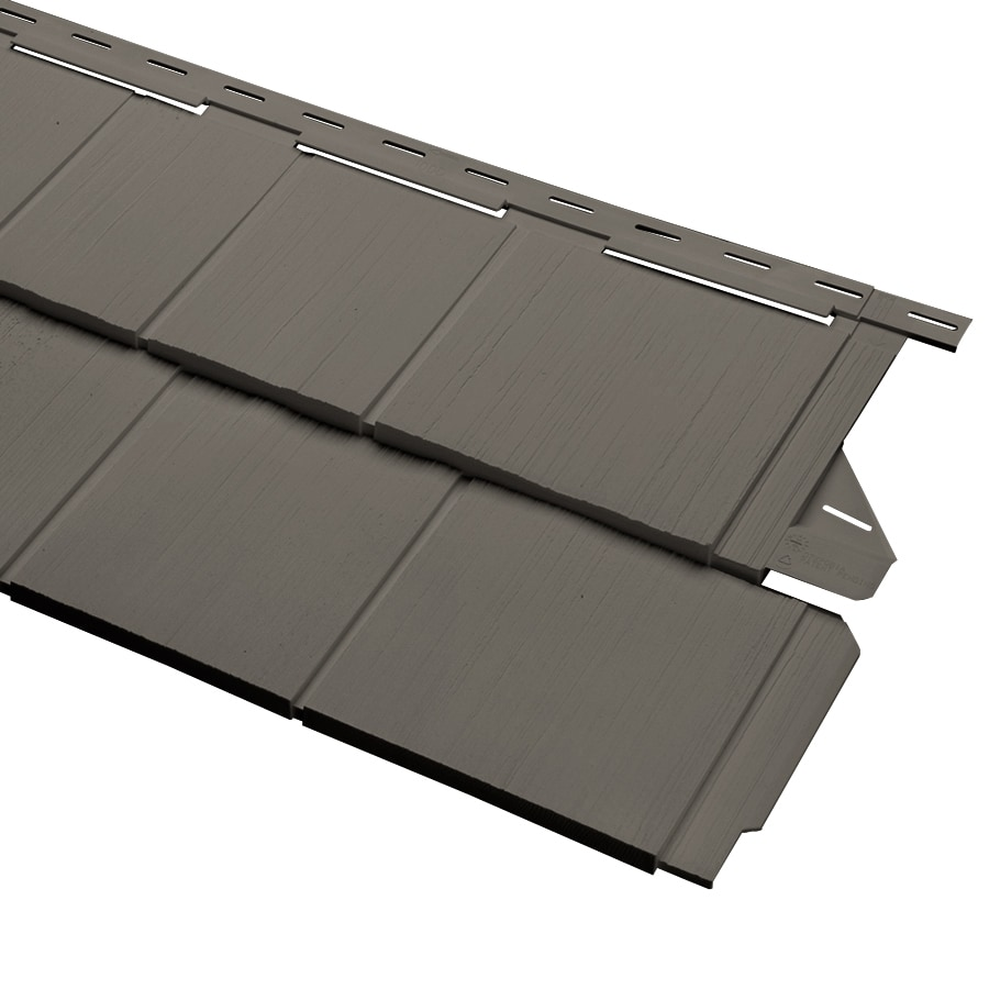 Georgia-Pacific Cedar Spectrum Vinyl Siding Panel Perfection Shake Shadow 15.5-in x 54.625-in