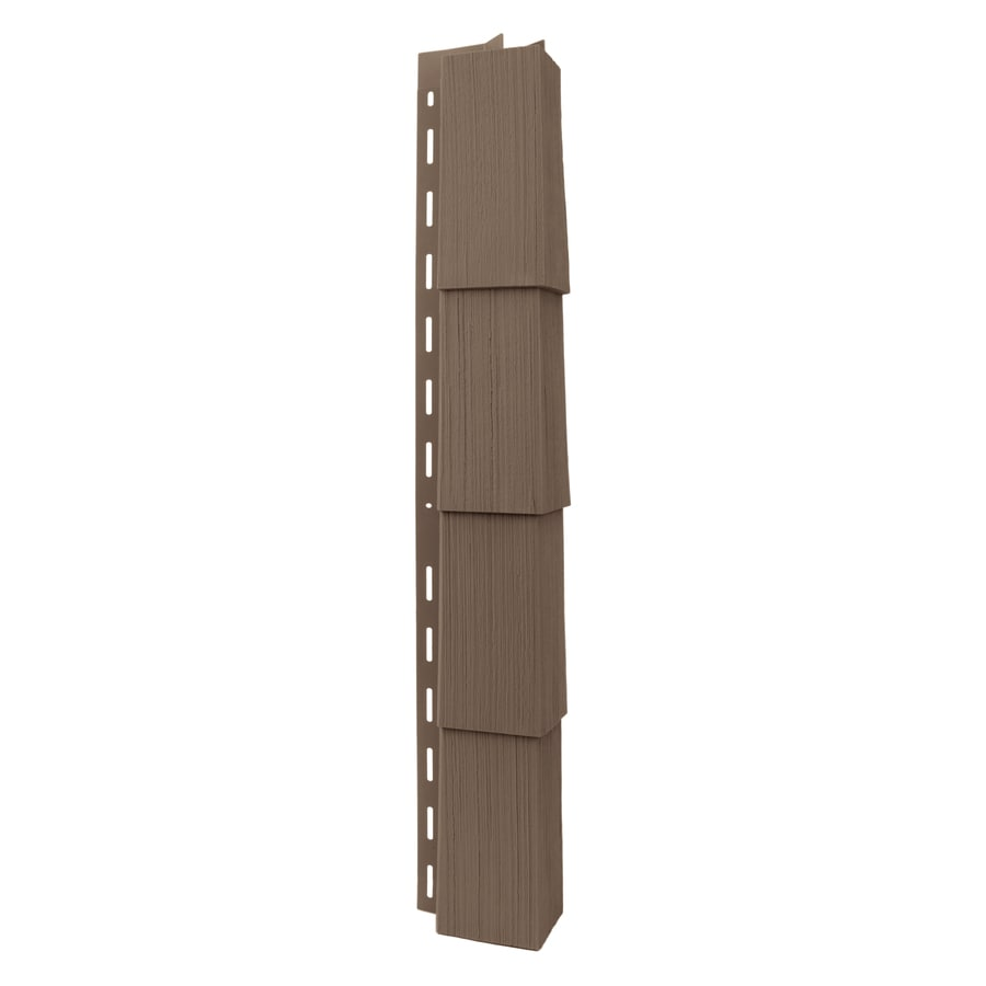 Georgia-Pacific Vinyl Siding Trim Outside Corner Post Teak/Wood Grain 3.5-in x 29.125-in