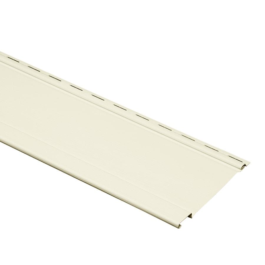 Georgia-Pacific Board and Batten Cream Vinyl Siding Panel 7-in x 120-in