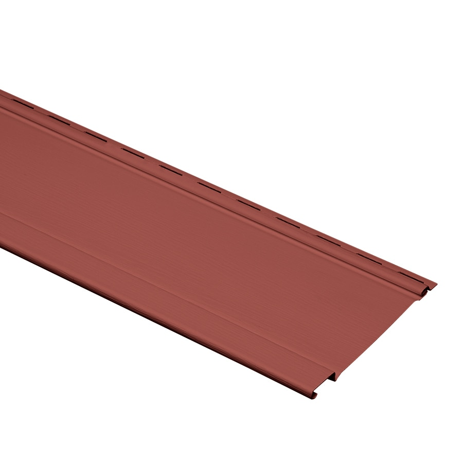 Georgia-Pacific Vinyl Siding Panel Board and Batten Hampton Red 7-in x 120-in