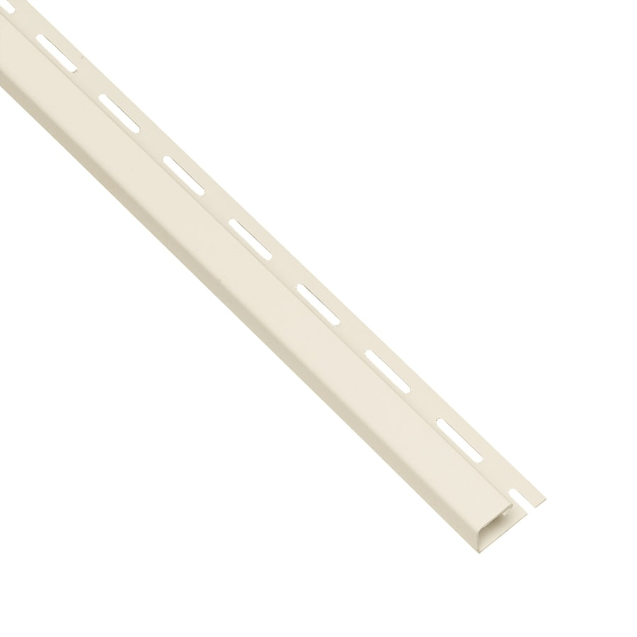 Georgia-Pacific Vinyl Siding Trim J-Channel Cream/Pebble 1.75-in x 150-in