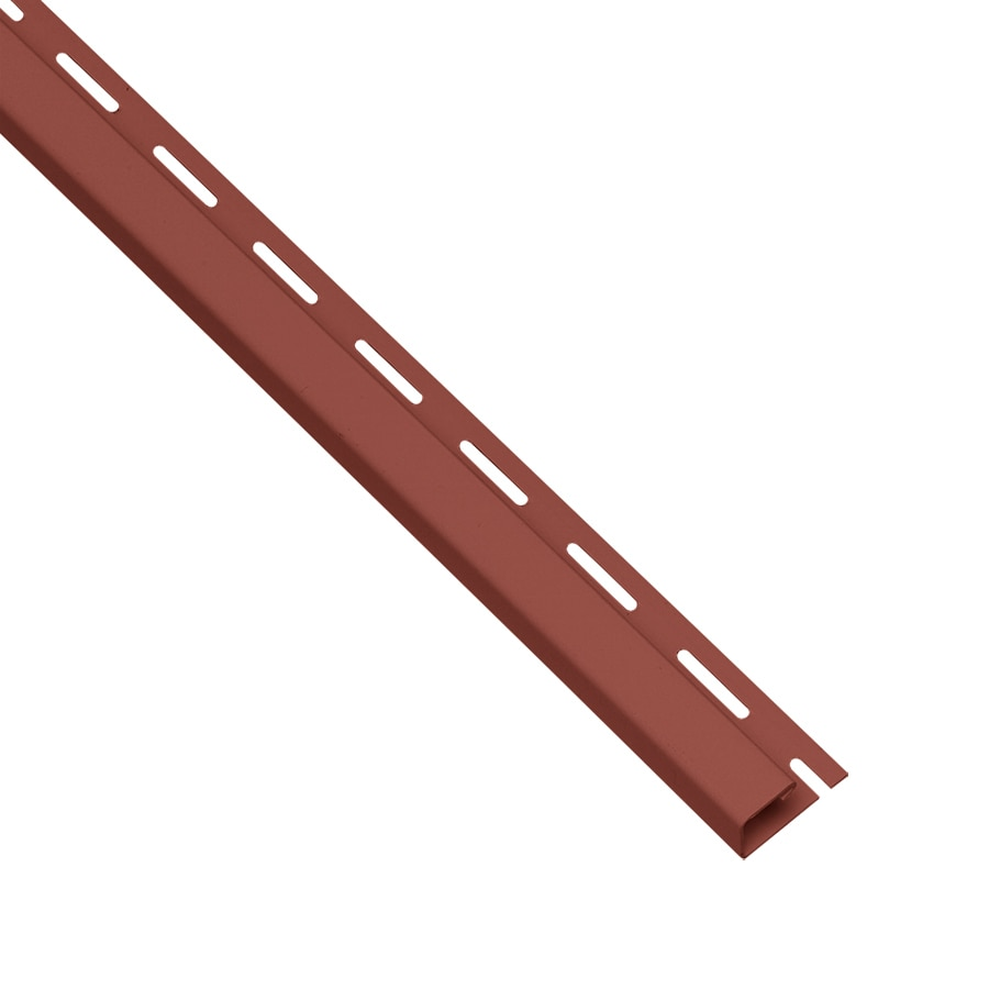 Georgia-Pacific Vinyl Siding Trim J-Channel Hampton Red/Pebble 1.75-in x 150-in