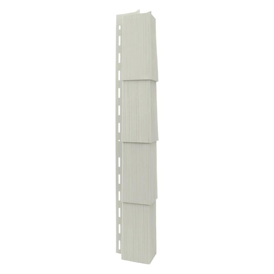 Georgia-Pacific Vinyl Siding Trim Outside Corner Post Olive/Wood Grain 3.5-in x 29.125-in