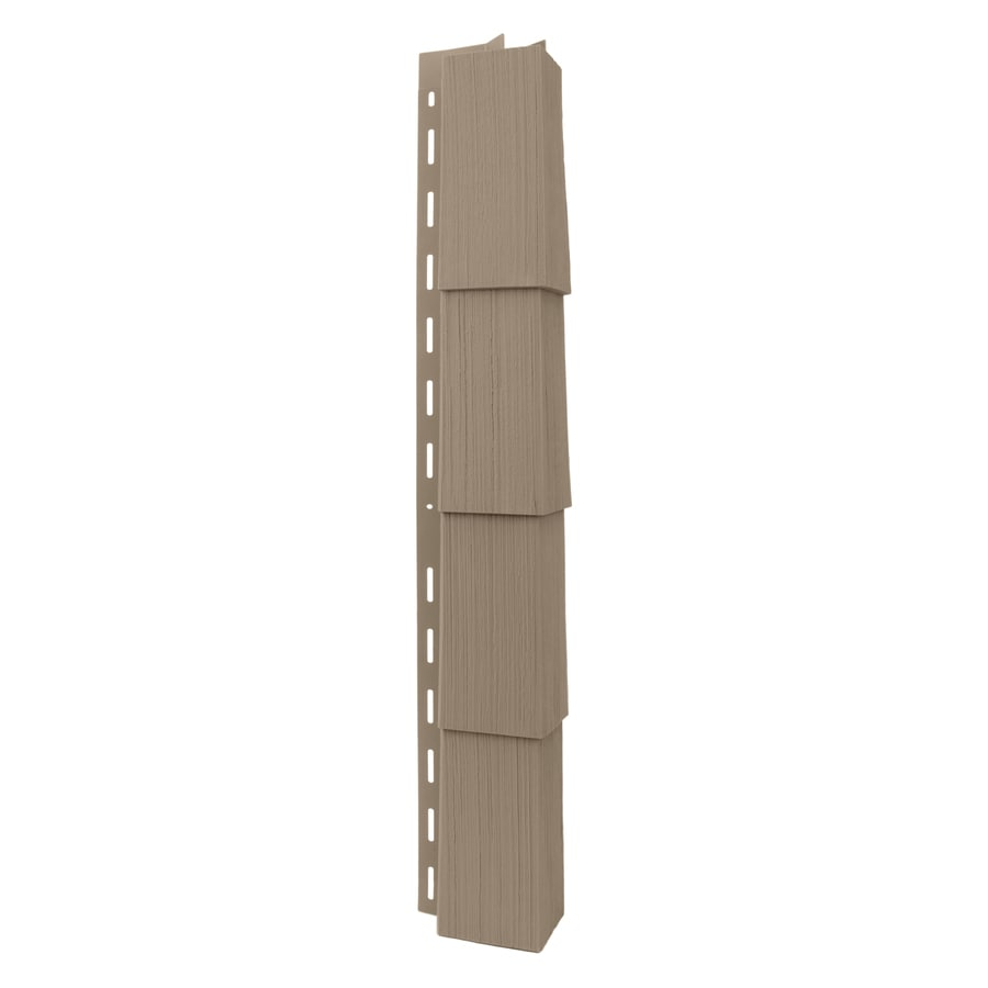 Georgia-Pacific Vinyl Siding Trim Outside Corner Post Briarwood/Wood Grain 3.5-in x 29.125-in