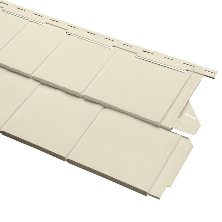 Georgia-Pacific Cedar Spectrum Vinyl Siding Panel Perfection Shake Cream 15.5-in x 54.625-in
