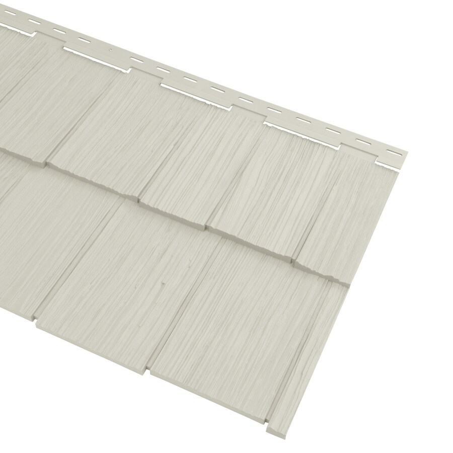 Georgia-Pacific Cedar Spectrum Vinyl Siding Panel Hand-Split Shake Almond 20.375-in x 57.5-in
