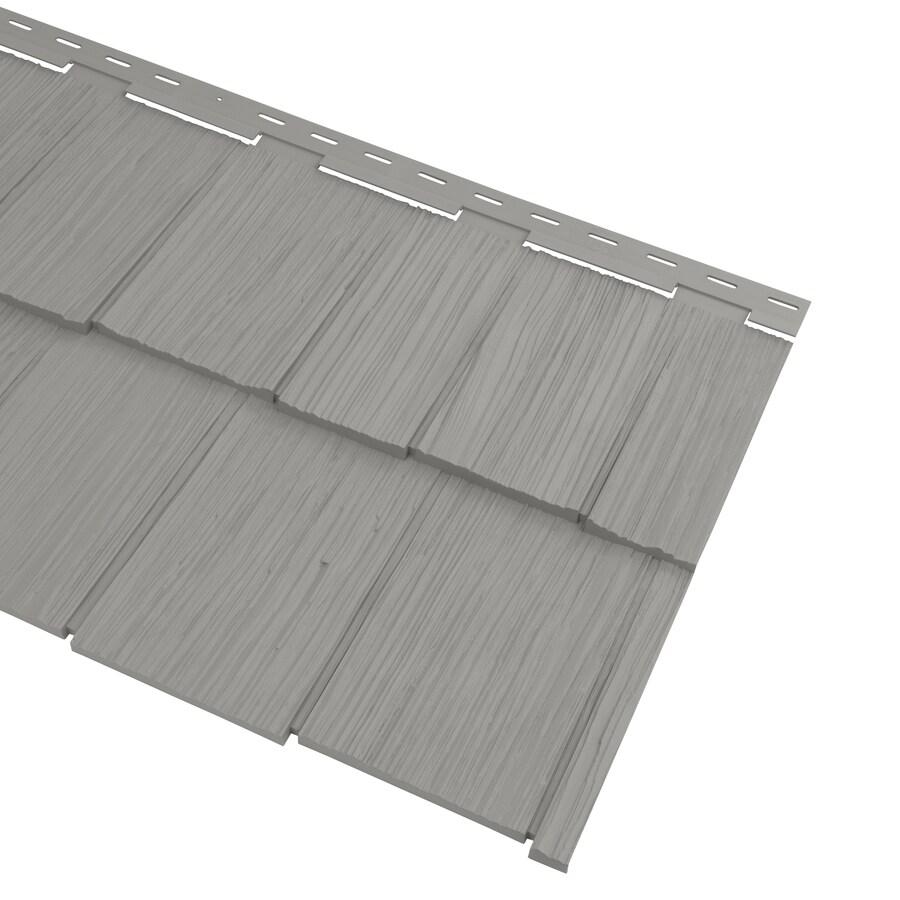 Georgia-Pacific Cedar Spectrum Hand-Split Shake Pewter Vinyl Siding Panel 20.375-in x 57.5-in