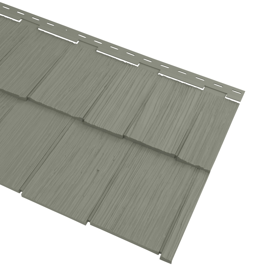 Georgia-Pacific Cedar Spectrum Vinyl Siding Panel Hand-Split Shake Sagebrook 20.375-in x 57.5-in