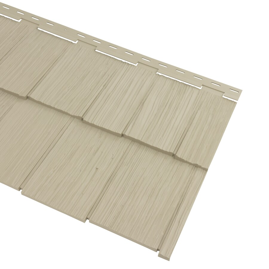 Georgia-Pacific Cedar Spectrum Hand-Split Shake Clay Vinyl Siding Panel 20.375-in x 57.5-in