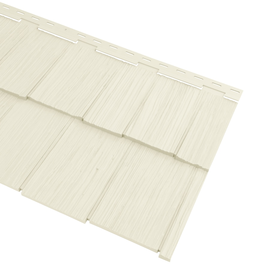Georgia-Pacific Cedar Spectrum Hand-Split Shake Cream Vinyl Siding Panel 20.375-in x 57.5-in