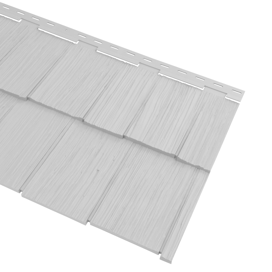 Georgia-Pacific Cedar Spectrum Vinyl Siding Panel Hand-Split Shake Gray 20.375-in x 57.5-in