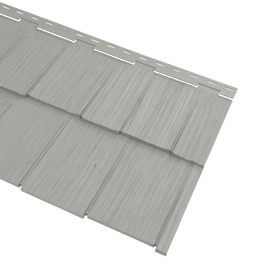 Georgia-Pacific Cedar Spectrum Vinyl Siding Panel Hand-Split Shake Flint 20.375-in x 57.5-in