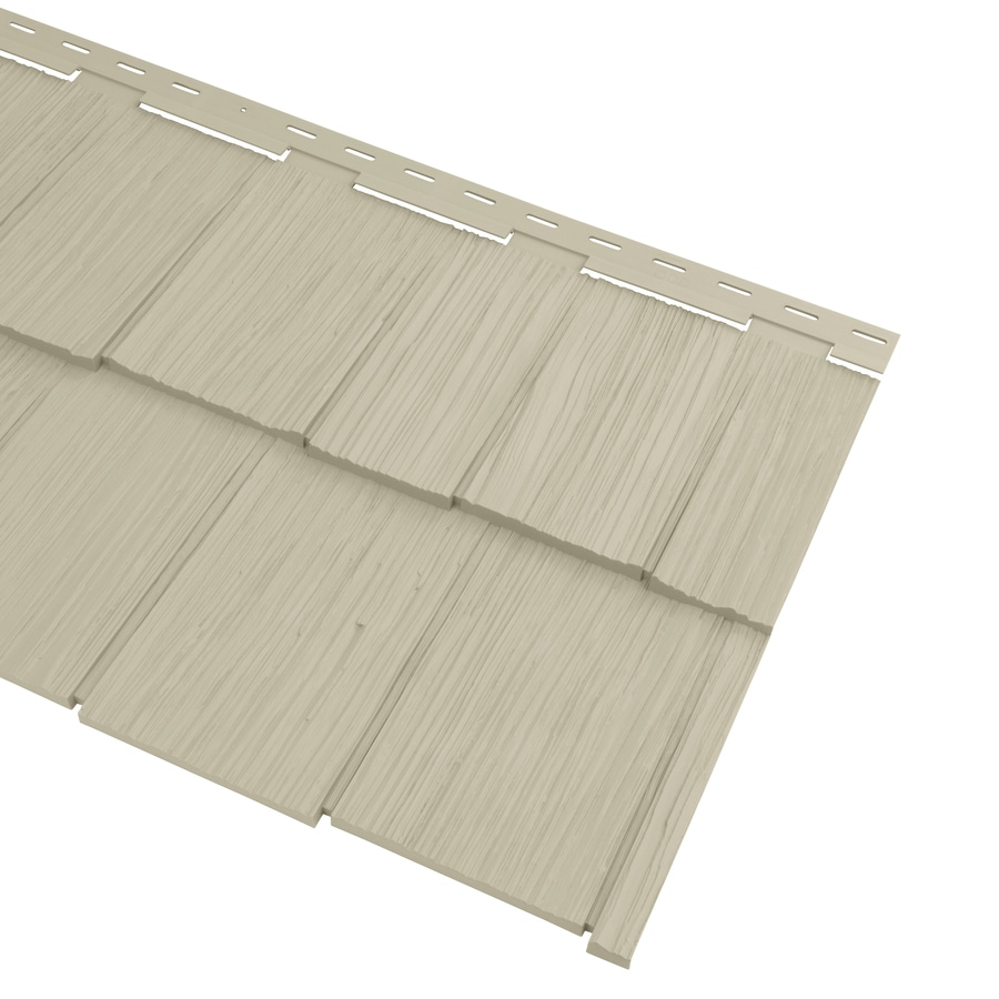 Georgia-Pacific Cedar Spectrum Vinyl Siding Panel Hand-Split Shake Tan 20.375-in x 57.5-in