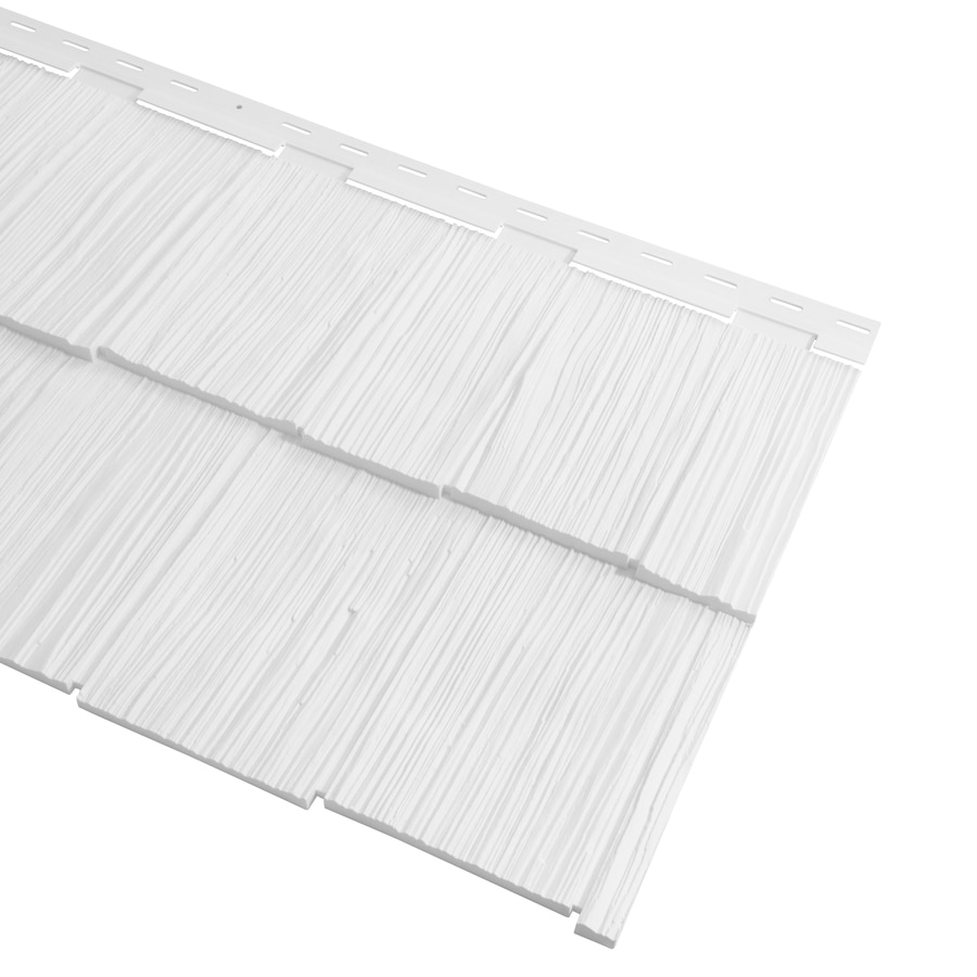 Georgia-Pacific Cedar Spectrum Vinyl Siding Panel Hand-Split Shake White 20.375-in x 57.5-in