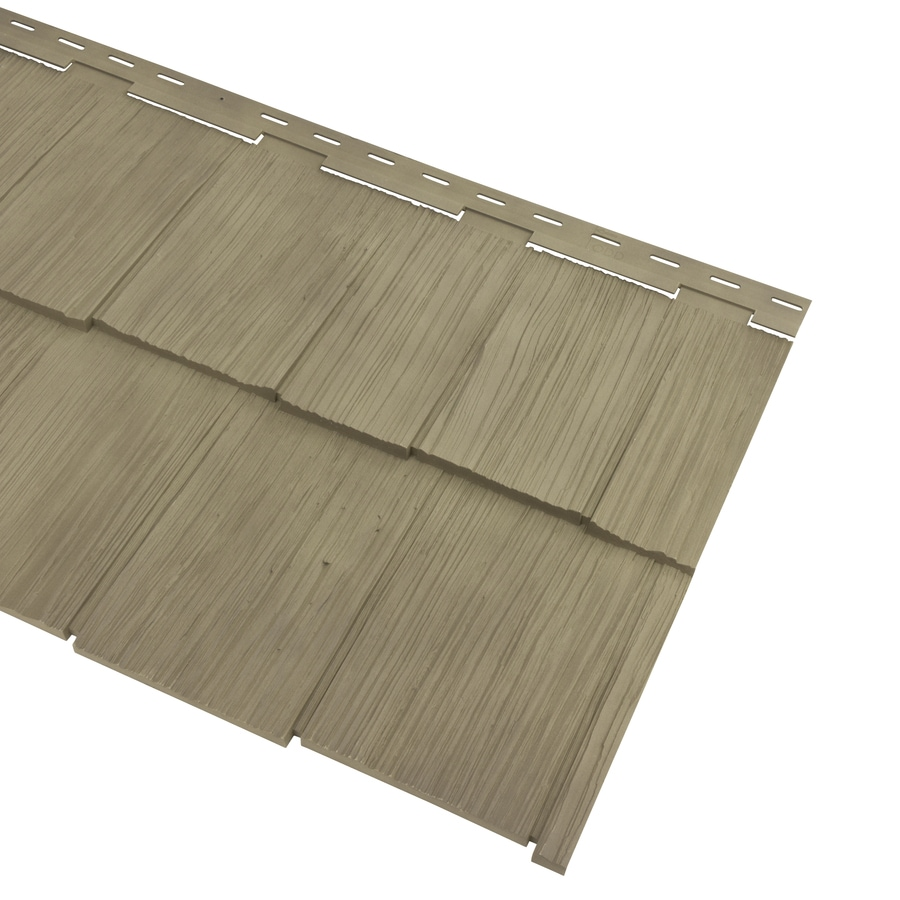 Georgia-Pacific Cedar Spectrum Vinyl Siding Panel Hand-Split Shake Shaded Cedar 20.375-in x 57.5-in