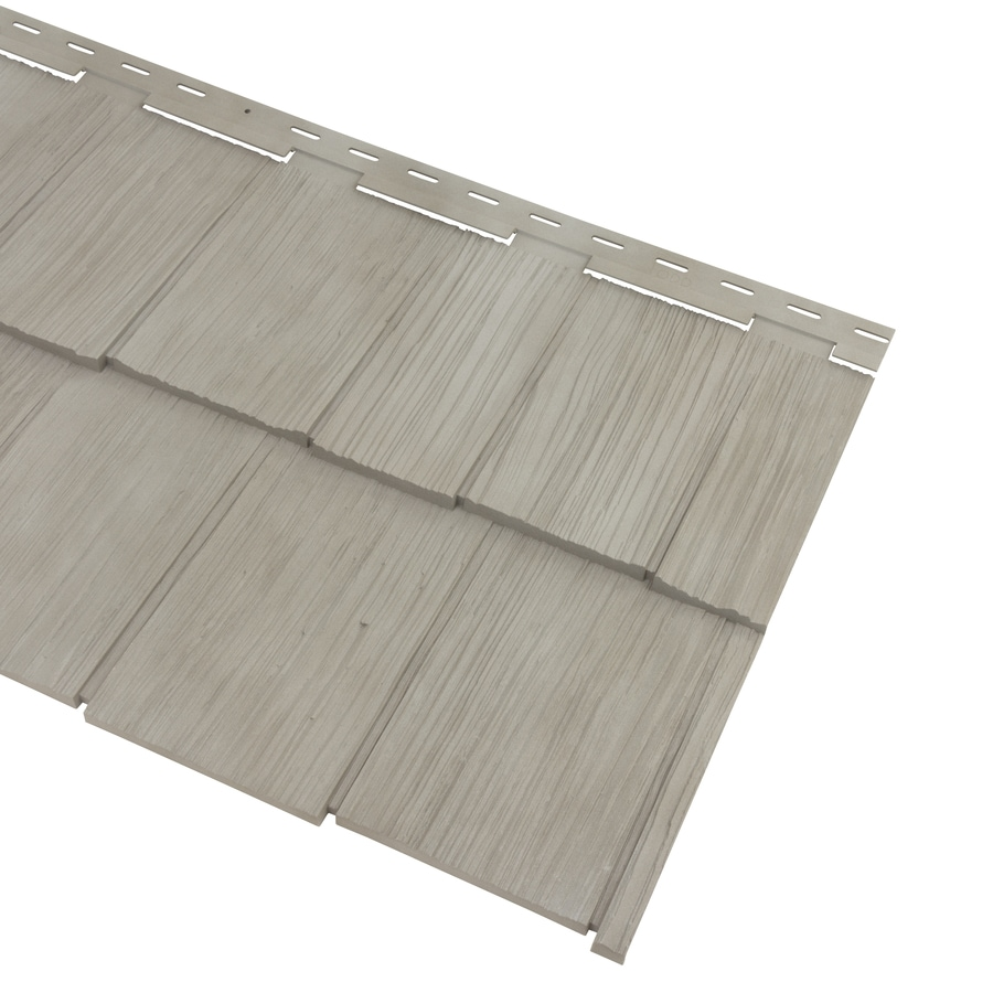 Georgia-Pacific Cedar Spectrum Vinyl Siding Panel Hand-Split Shake Shaded Gray 20.375-in x 57.5-in