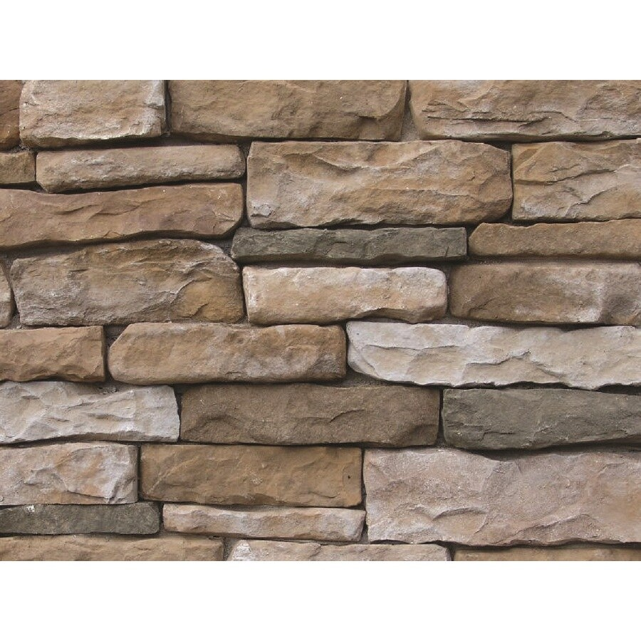 Ply Gem Stone Shadow Ledgestone 10-sq ft Autumn Faux Stone Veneer