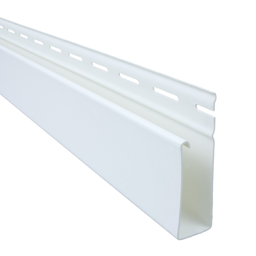 Georgia-Pacific 3.5-in x 150-in White J-Channel Vinyl Siding Trim
