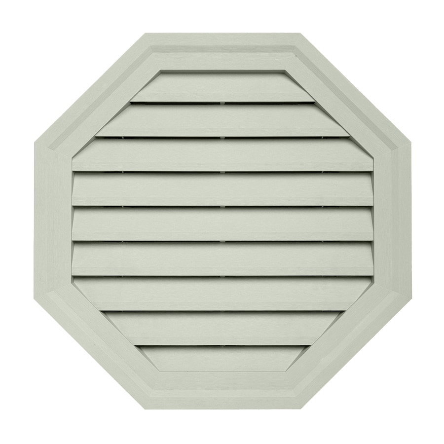 Georgia-Pacific 18-in x 18-in Olive Octagon Vinyl Gable Vent