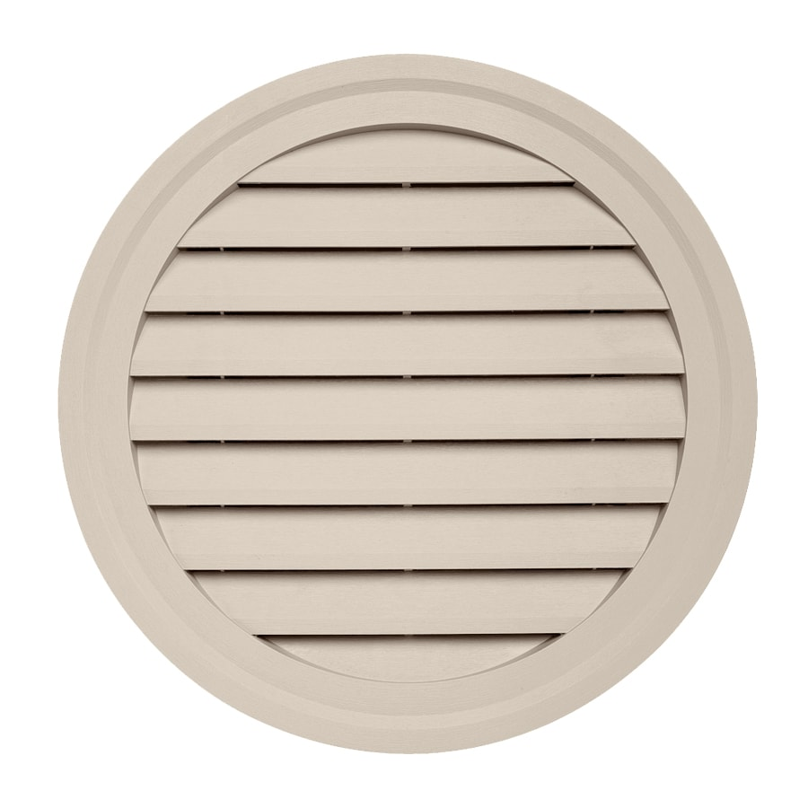 Georgia-Pacific 22-in x 22-in Beige Round Vinyl Gable Vent