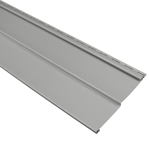 Georgia Pacific Compass Pewter Double 4 Traditional Vinyl Siding S At Lowes Com
