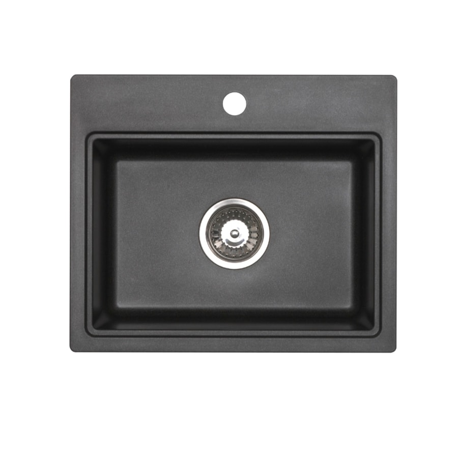 Jacuzzi Metallic Black Granite Drop In Or Undermount Sink