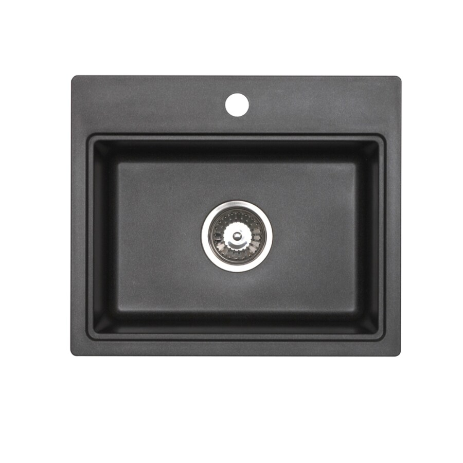 ... Jacuzzi Metallic Black Granite Drop-in or Undermount Sink at Lowes.com
