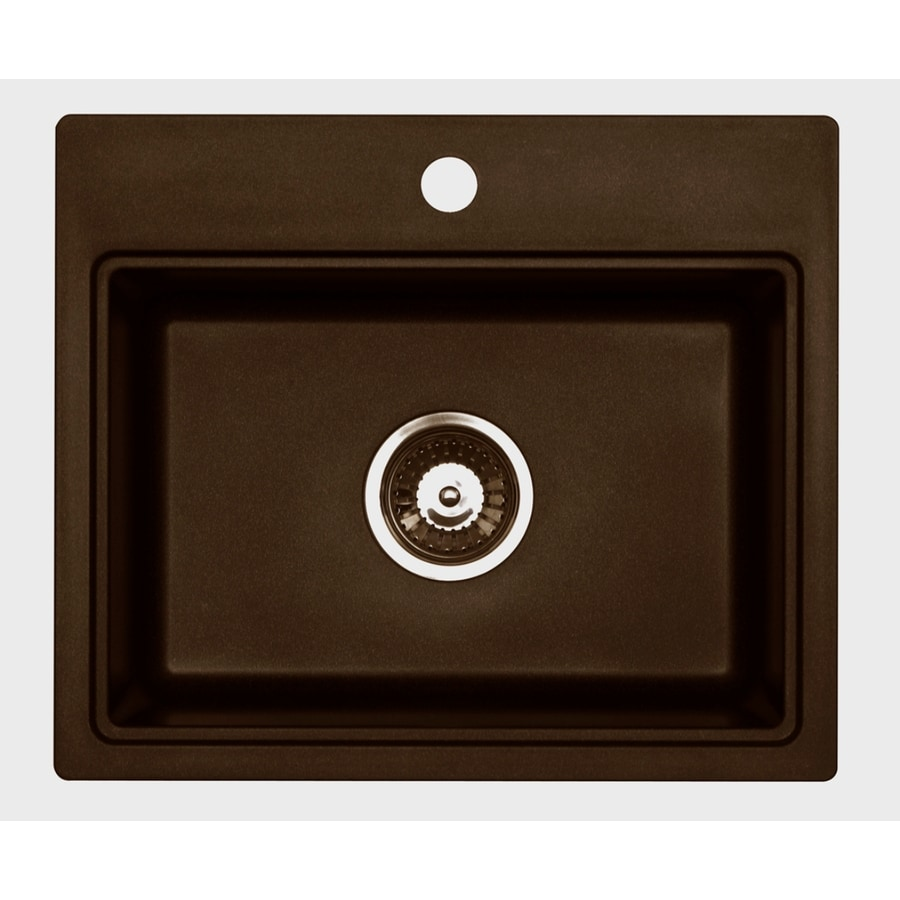 ... Chocolate Metallic Granite Drop-in or Undermount Sink at Lowes.com