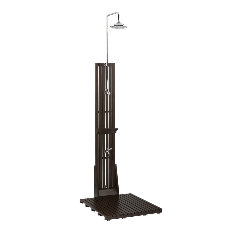 allen + roth Dark Brown Outdoor Shower