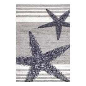 nuLOOM Thomas Paul Coastal Starfish Area Rug - Grey / 5 x 8 / 100% Polypropylene