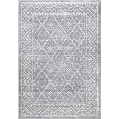 Nuloom Grey Indoor Vintage Area Rug Common 7 X 9 Actual