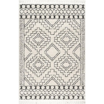 NuLOOM Off-White Indoor Moroccan Area