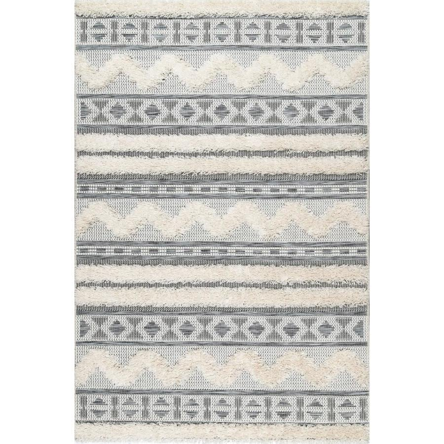 Nuloom 8 X 11 Off White Indoor Geometric Area Rug In The Rugs Department At Lowes Com