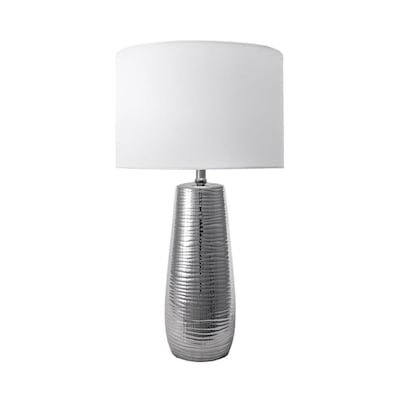 Nuloom 26 In Silver Table Lamp With Linen Shade In The Table Lamps Department At Lowes Com