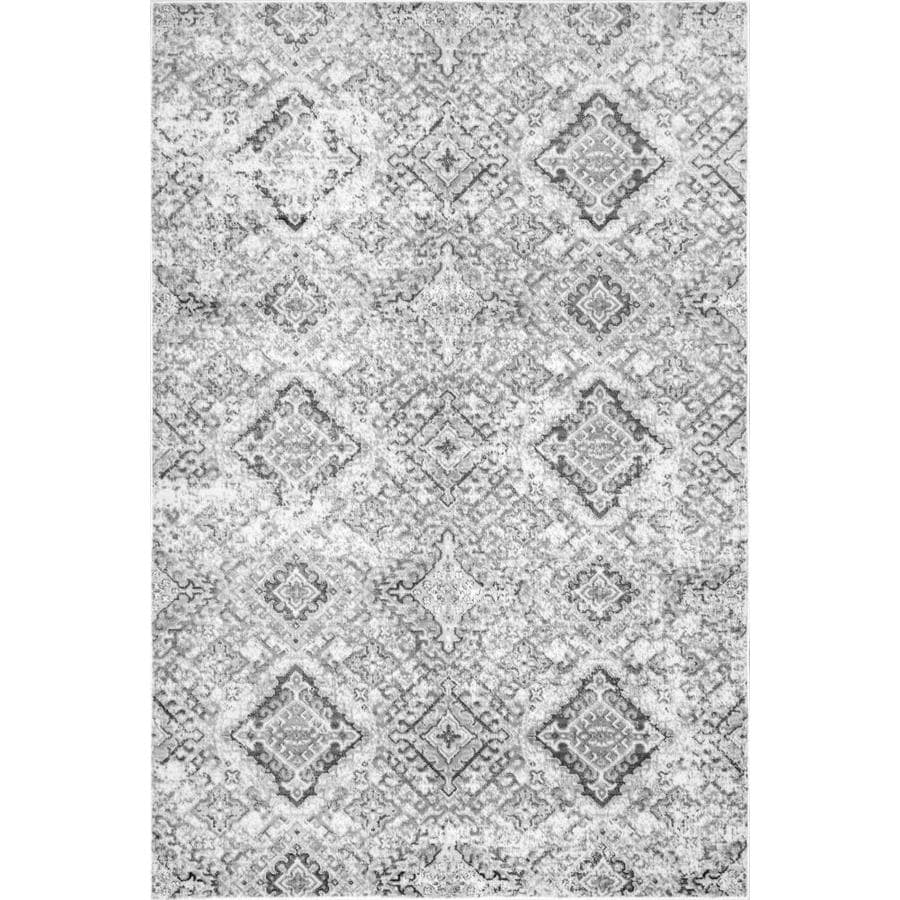 Nuloom 8 X 10 Gray Indoor Distressed Overdyed Vintage Area Rug In The Rugs Department At Lowes Com