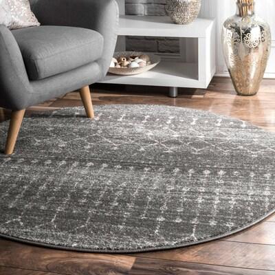 Nuloom Dark Gray Oval Indoor Moroccan