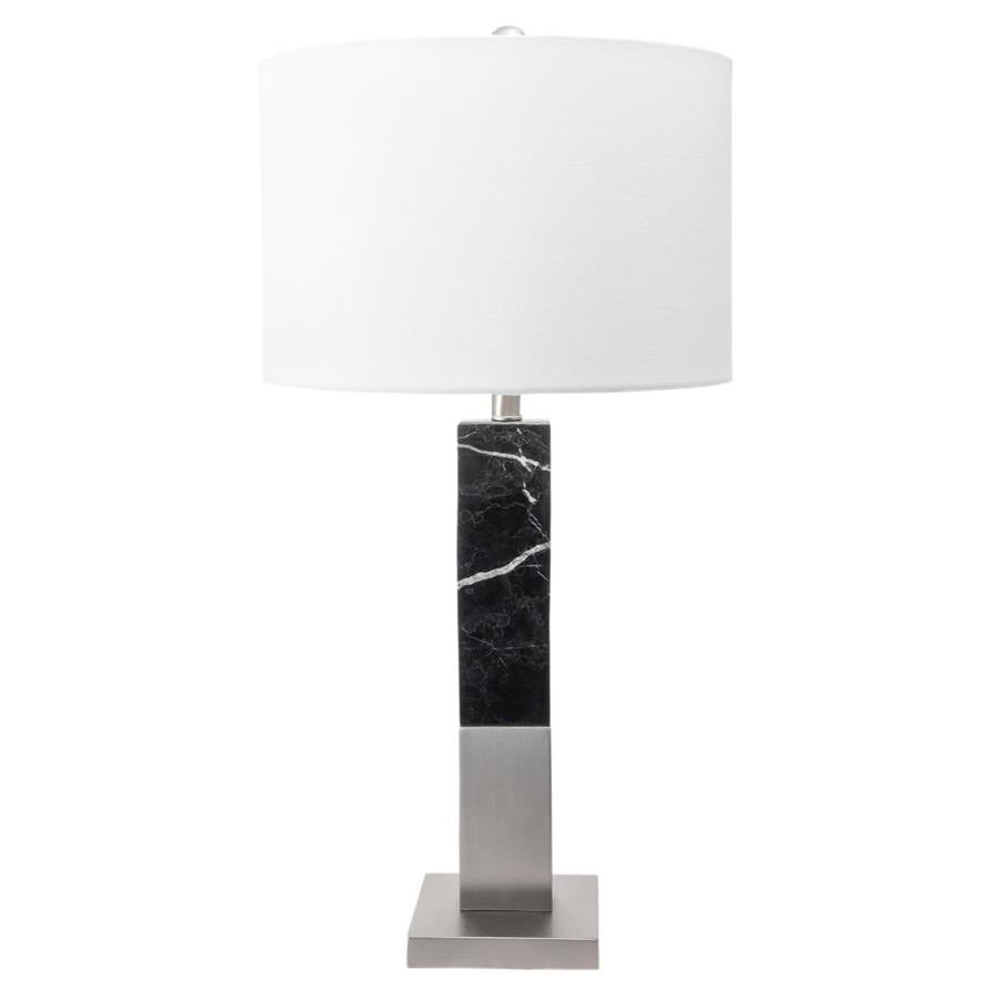 Nuloom 28 In Black Led Table Lamp With Fabric Shade In The Table Lamps Department At Lowes Com
