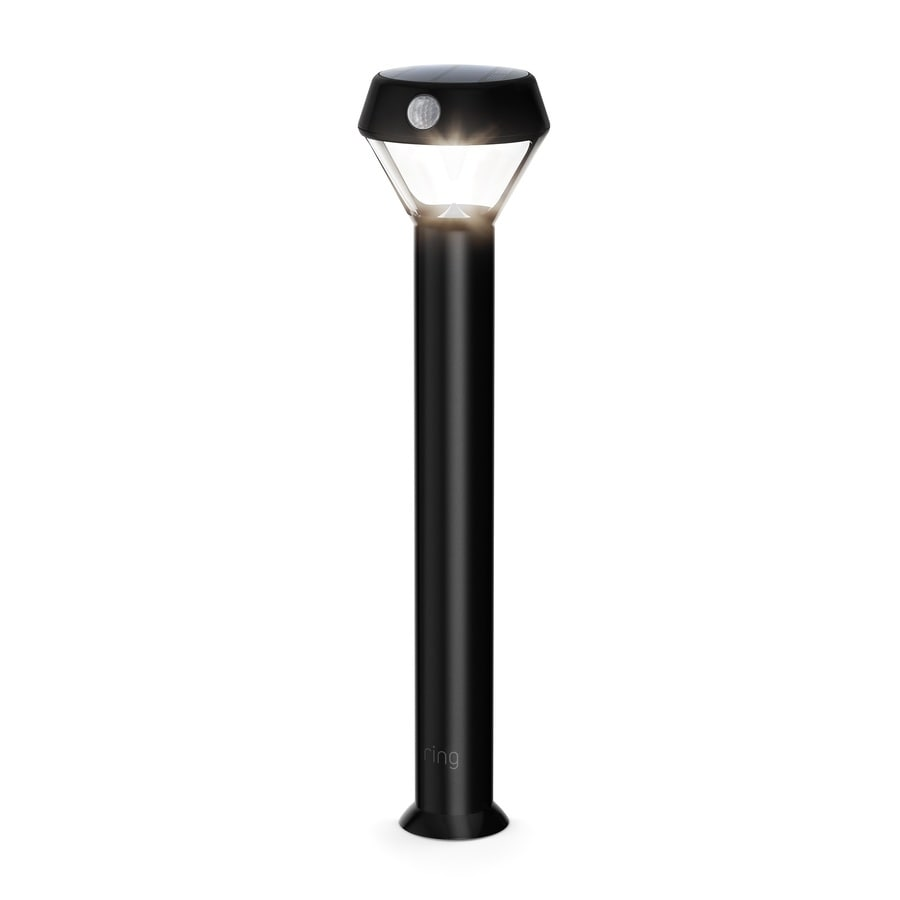Ring Smart Lighting Solar Pathlight Solar Powered Motion Activated Led Security Light With 80 Lumens Black In The Path Lights Department At Lowes Com
