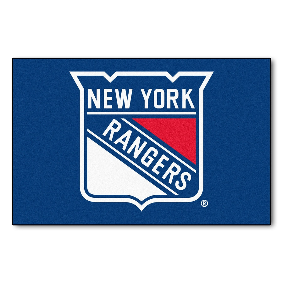 FANMATS New York Rangers Rectangular Indoor Machine-Made Sports Throw Rug (Common: 1-1/2 x 2-1/2; Actual: 1.583-ft W x 2.5-ft L x dia)