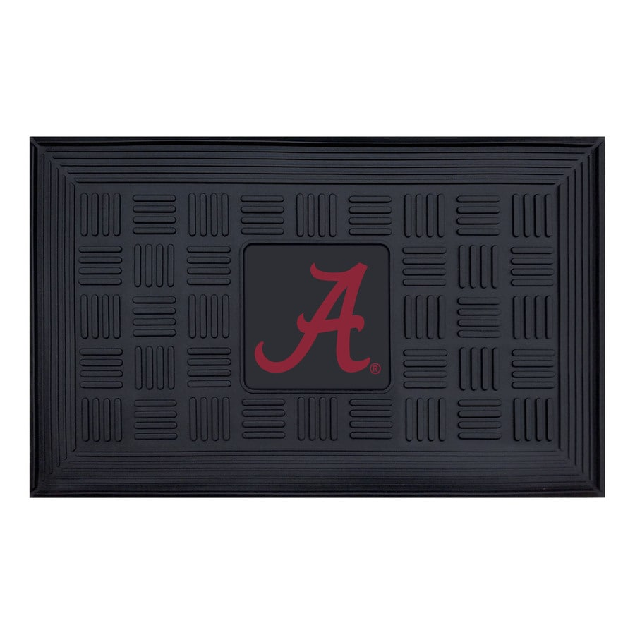 FANMATS Black with Official Team Logos and Colors University Of Alabama Rectangular Door Mat (Common: 19-in x 30-in; Actual: 19-in x 30-in)